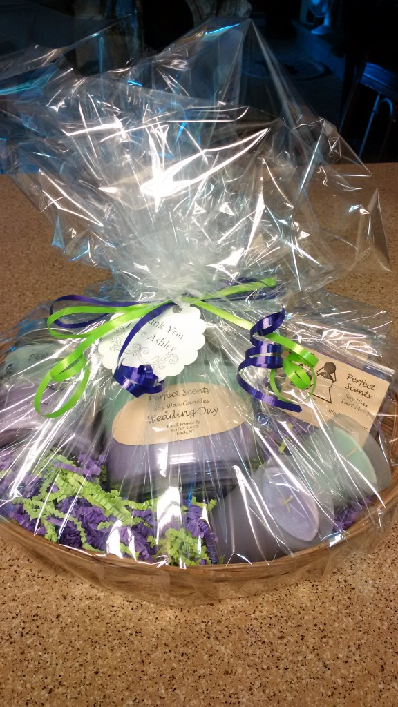 Wrapped Brides Maid Gift Basket