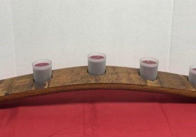 Wine Stave Votive Candelabra